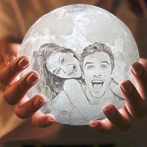 3D Printing Photo Moon Lamp