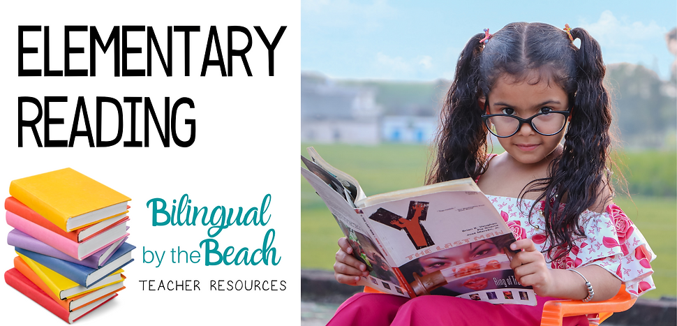 Here you will find bilingual elementary reading lessons, games, activities, ideas, and products for teachers and students in grades Pre-K to 4th in digital and printable formats.