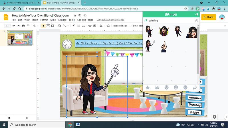 Bitmoji Classroom Showing Bitmoji Extension.png