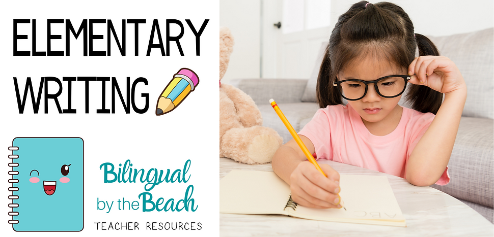 Here you will find bilingual elementary writing lessons, games, activities, ideas, and products for teachers and students in grades Pre-K to 4th in digital and printable formats.