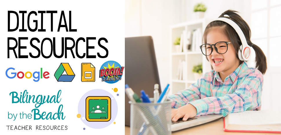 Here you will find bilingual elementary digital math lessons, games, activities, ideas, and products for teachers and students in grades Pre-K to 4th that you can use in-person and online with your students.