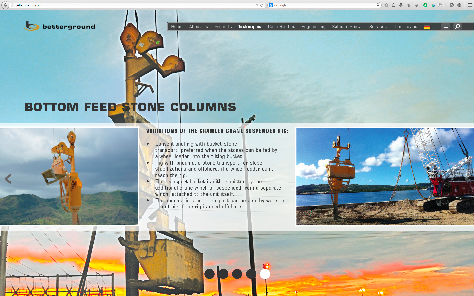 Bottom Feed Stone Columns 5
