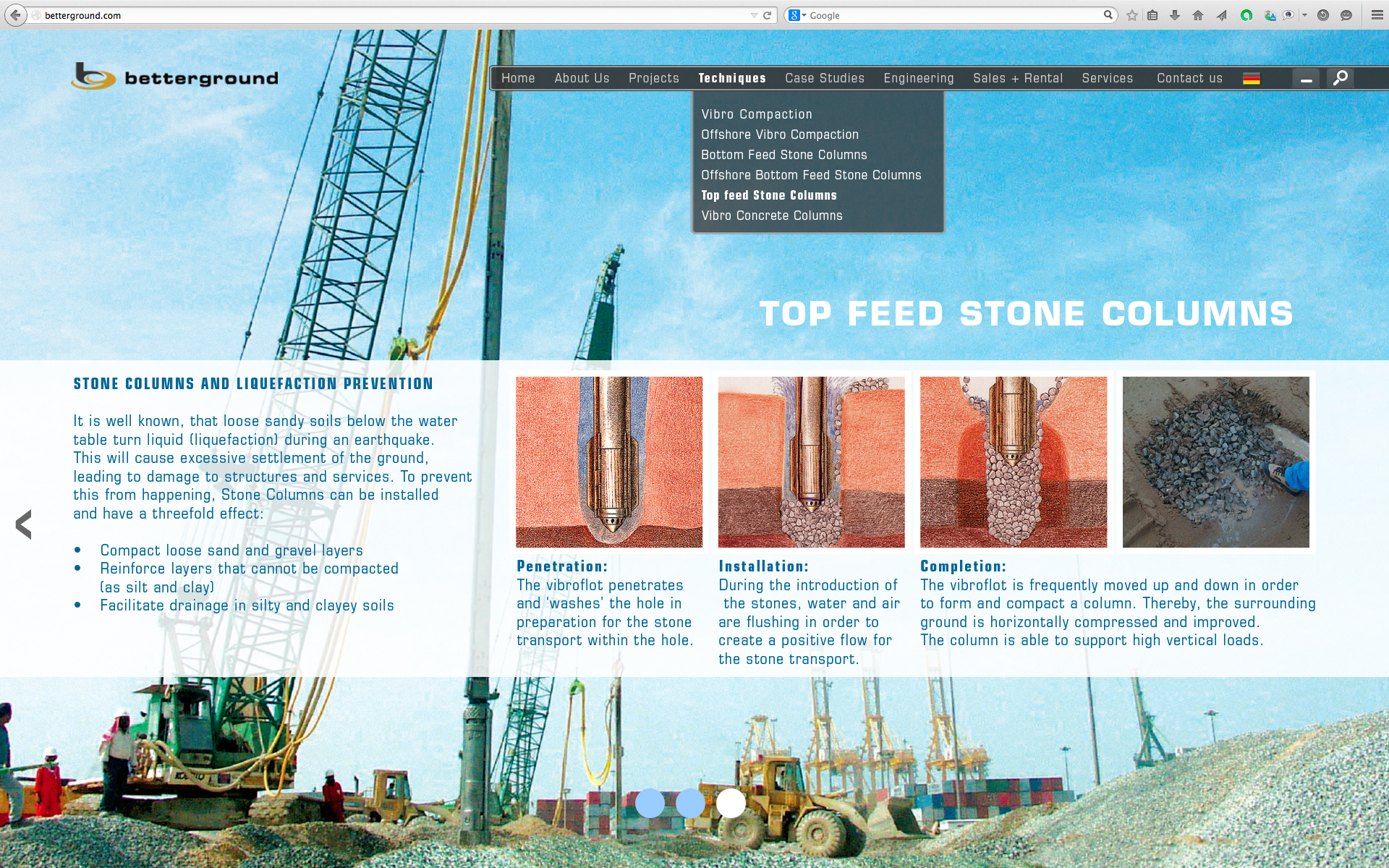 Top Feed Stone Columns 3