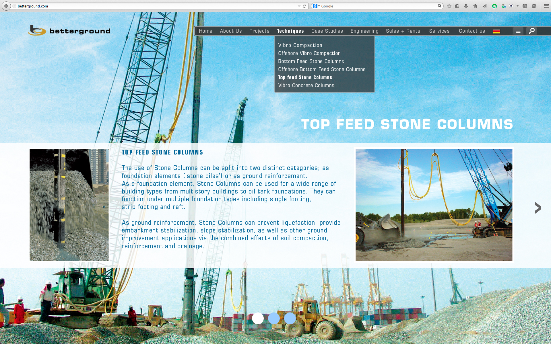 Top Feed Stone Columns 1