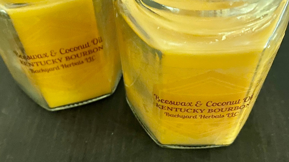 Kentucky Bourbon Beeswax and Coconut Oil Candles