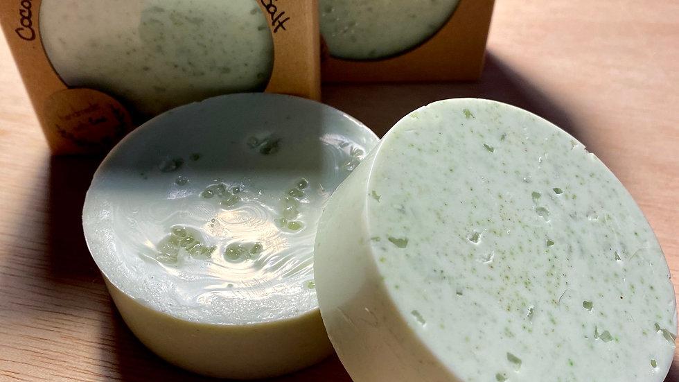 Coconut Lime Verbena Sea Salt Goat Milk & Shea Butter Soap