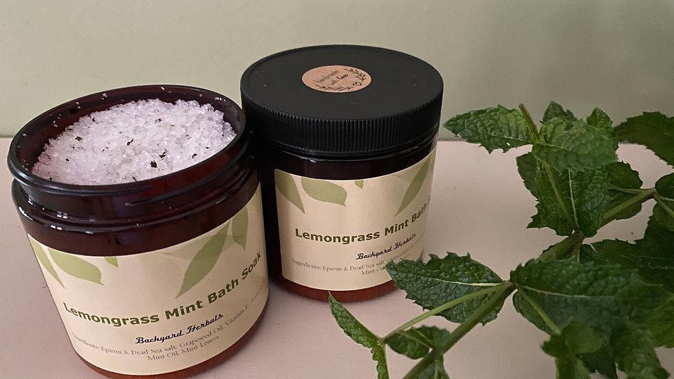 16 Oz. Lemongrass Mint Bath Soak