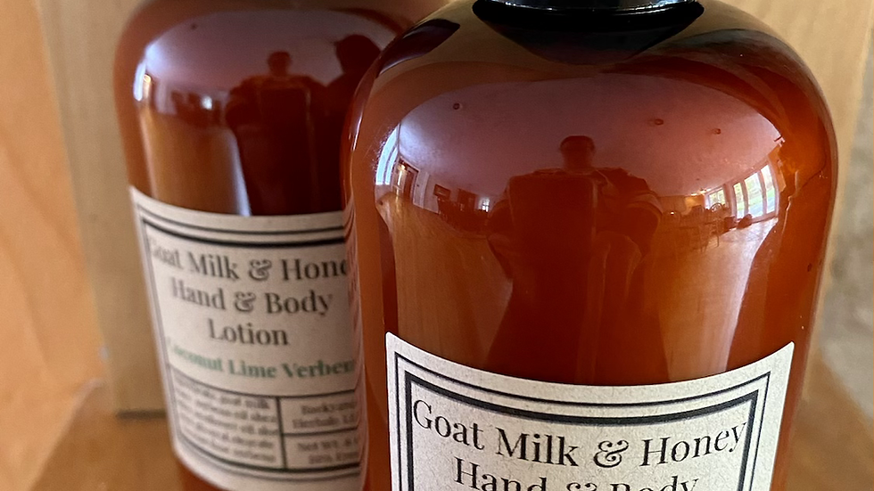 Coconut Lime Verbena Goat Milk & Honey Hand and Body Lotion