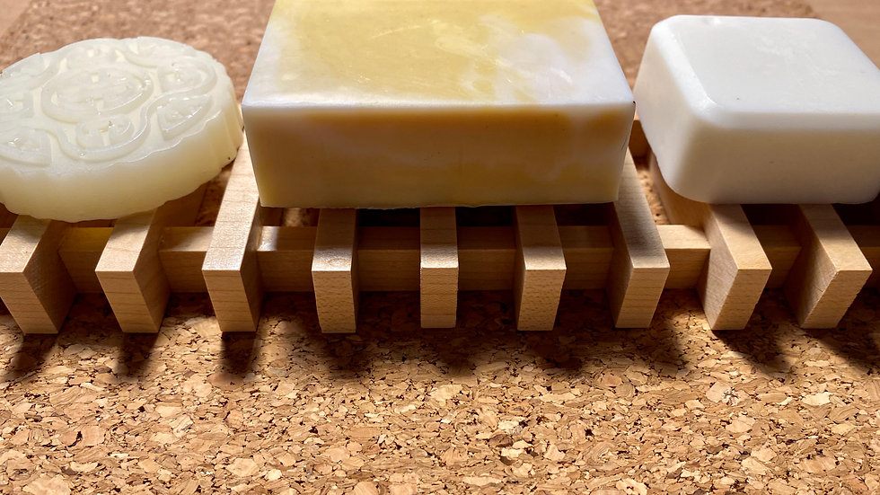 """9"""" Handcrafted Maple Soap Tray"""