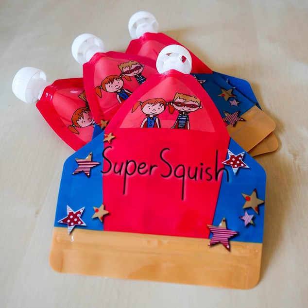 Super squish pouches
