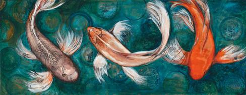 Koi Fish Large panel