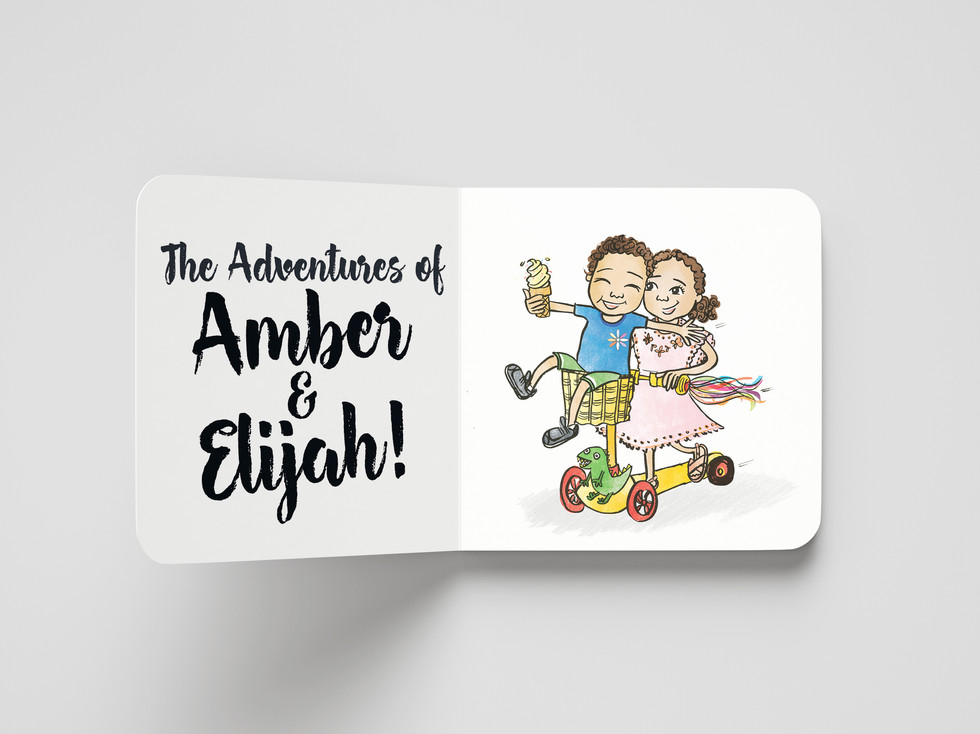 Eli and Amber Board Book by Naomi C Robi