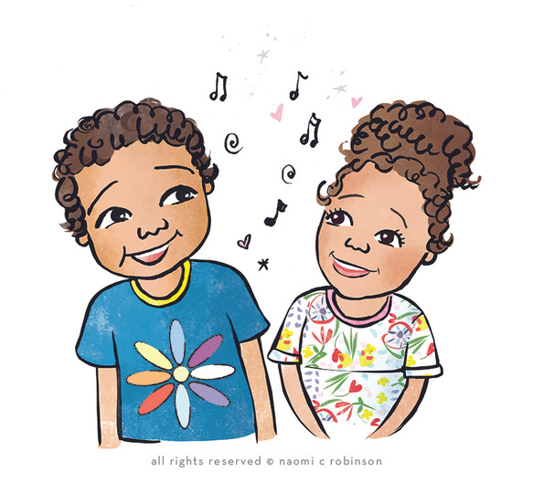 Eli and Amber Portrait by Naomi C Robins