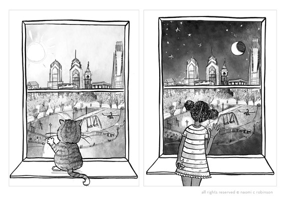 Ziggie Tales Night and Day Page Illustrations