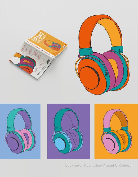 Brand Management Head Phone Illustration
