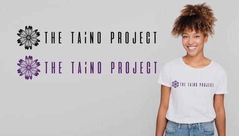 TAINO Project Logo on black T Shirt desi