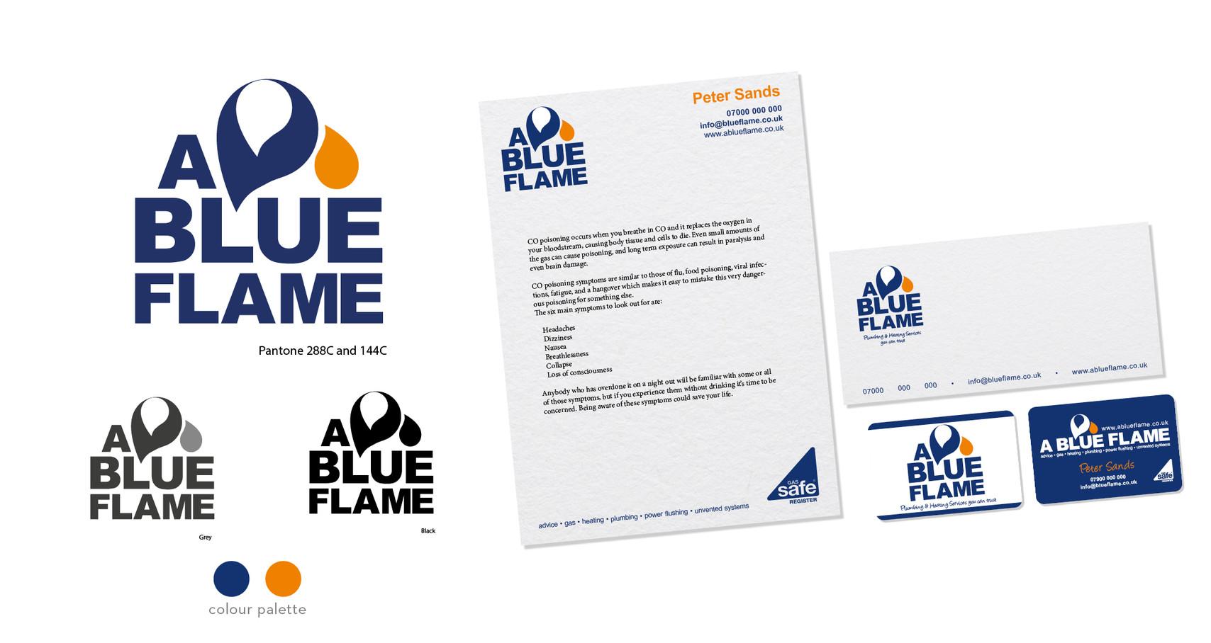 A BLUE FLAME Branding design.jpg
