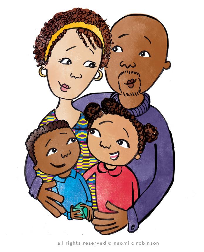 Black Family portait by Naomi C Robinson