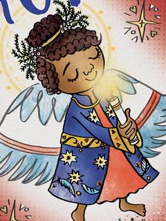 Angel of HOPE ZOOM Christmas Cards by Ny