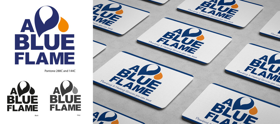 A BLUE FLAME Branding Logo design by Nyh