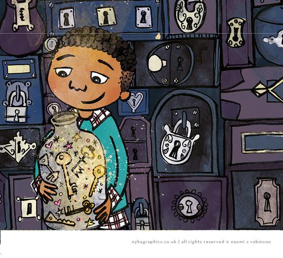 Black Boy Illustration
