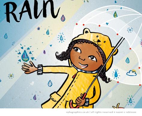 Rainy Day, Black Girl Illustration Calen