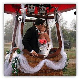 hot air balloon wedding las vegas