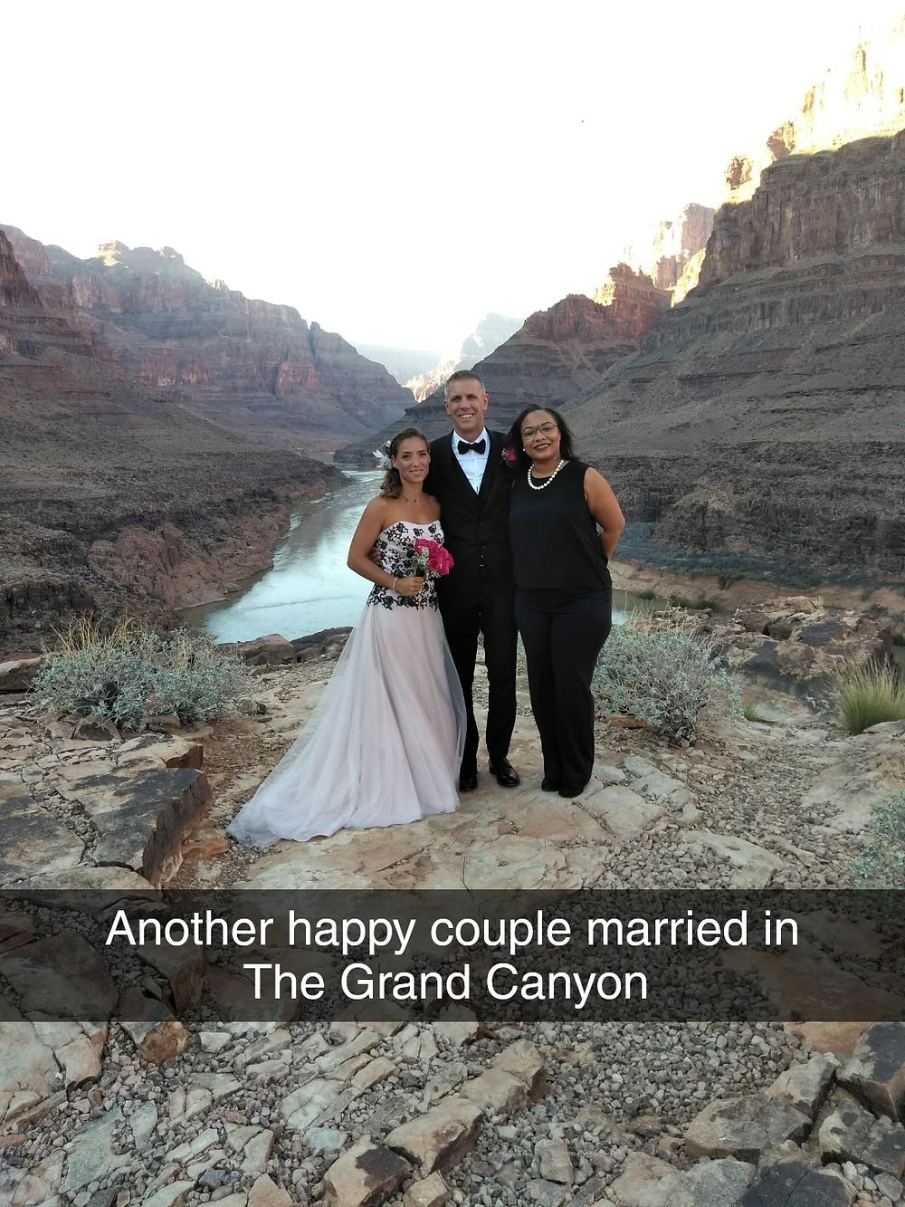 Minister Ericka Grand Canyon wedding