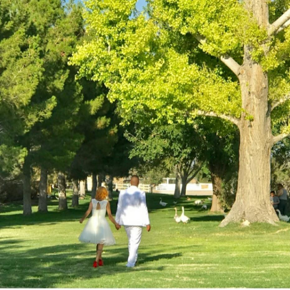 Las Vegas park wedding