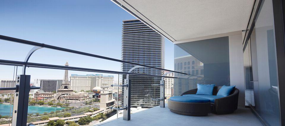 A balcony at the Cosmopolitan Hotel & Casino
