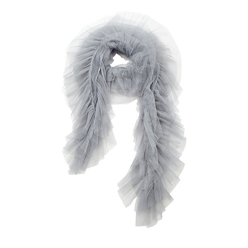 super sweet, supersweet, tulle, boa, scarf, by moumi, moumi, frills, ruffles, grey
