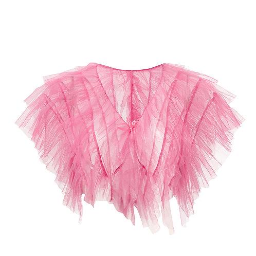 super sweet, supersweet, tulle, bolero, by moumi, moumi, frills, ruffles, pink, flamingo
