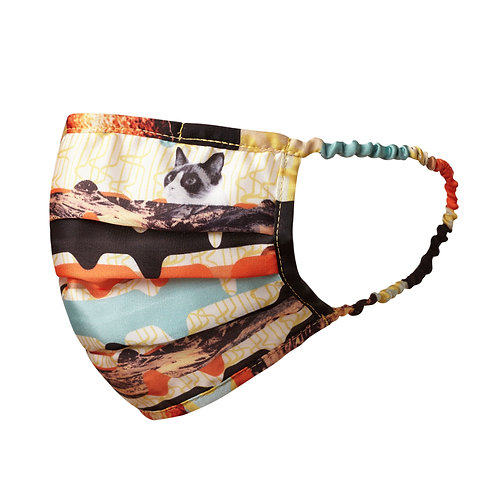 face mask, covid 19, mask, reusable, cloth, fashion, cats, cat print, cat mask, cat, meow