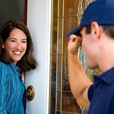 Front door greeting