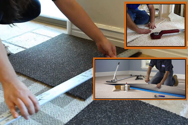 Collage of flooring pictures