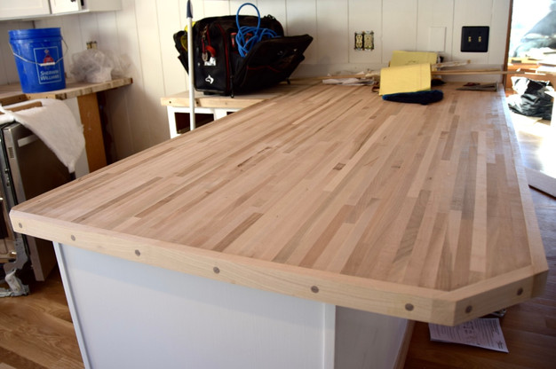 Butcher Block Countertops Go In
