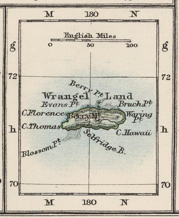 Maps of Wrangel Island, Russia