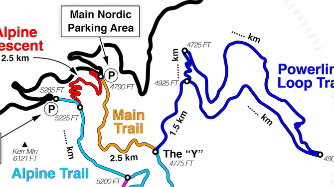 New Map for Blacktail Mountain Nordic Ski Area