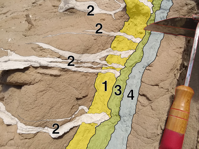 Evidence for Long Periods Between Sheet Injections in Clastic Dikes