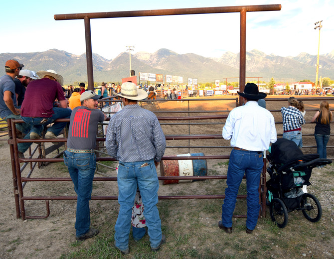Over the Shoulder at the Ronan Rodeo