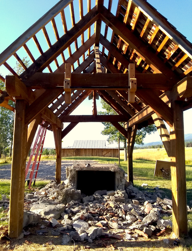Pizza Oven Demolition & Timberframe Relocation