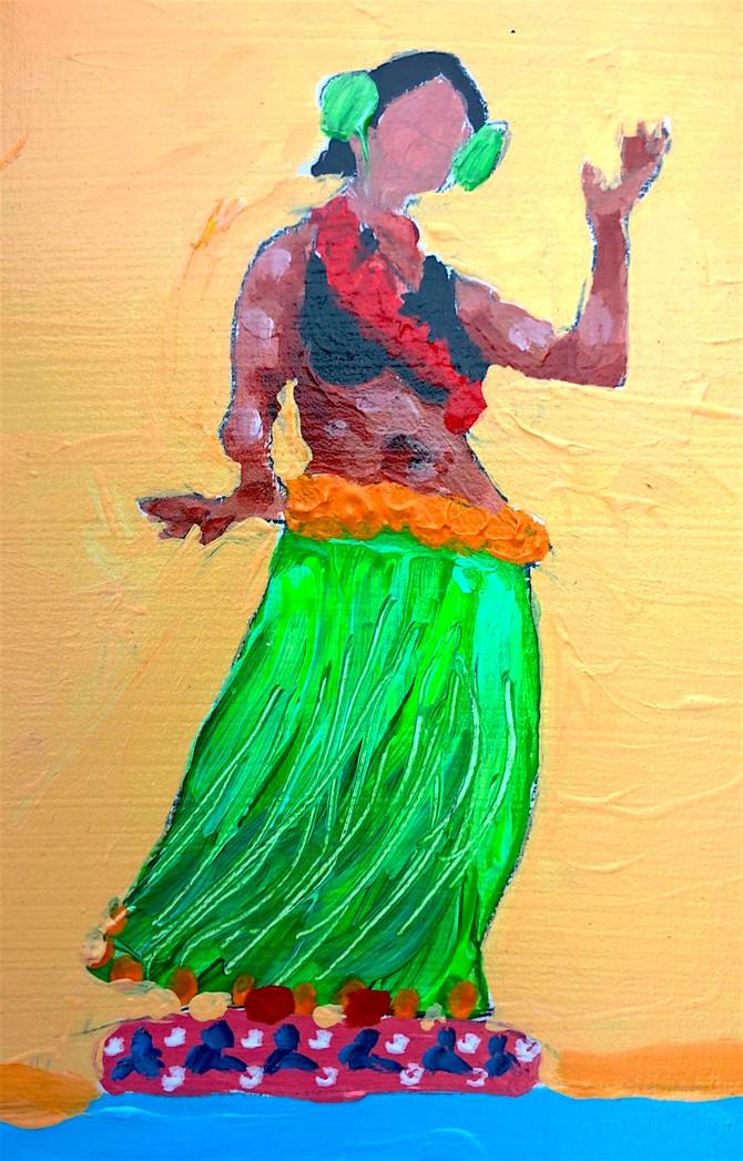 Hawaiian Bobblehead Dancers