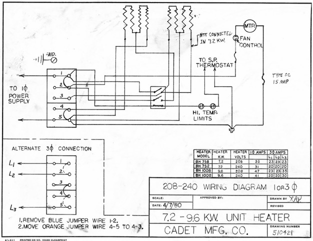 garage heater wiring plan skye cooley fine woodworking original wiring diagram from 1983 this sheet was inside the heater housing when i opened it up