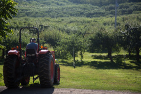 Chas on the Tractor