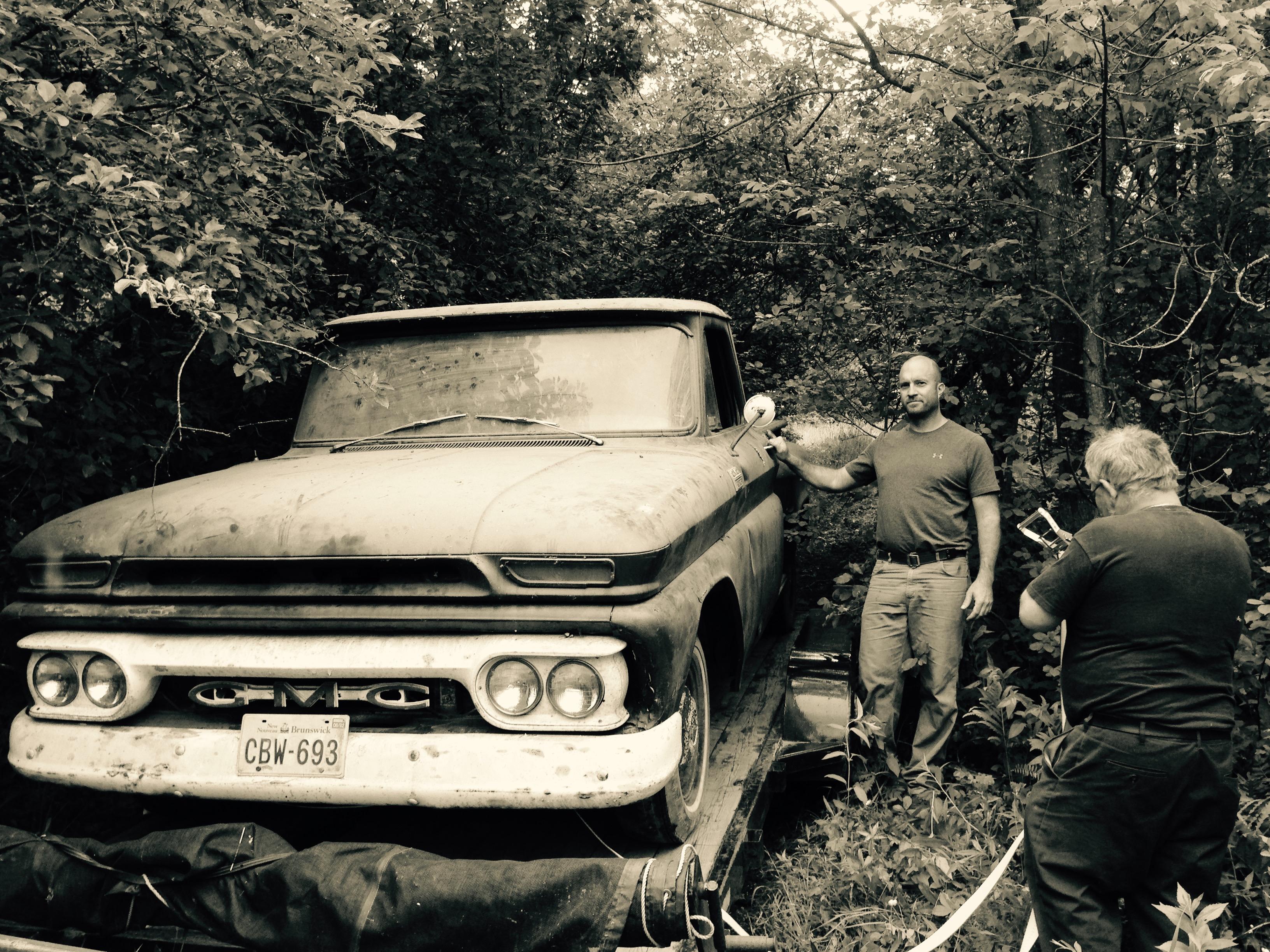 Hugh Mackay, with pre-restored truck