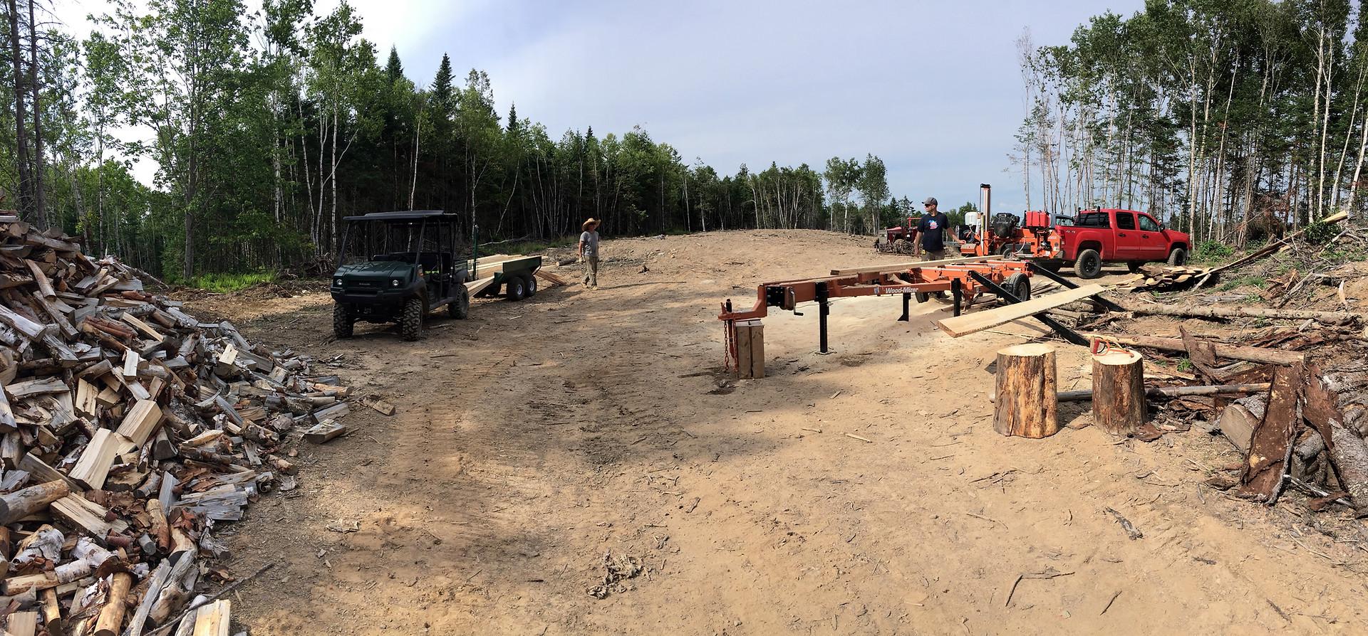 Milling Spruce and Cedar
