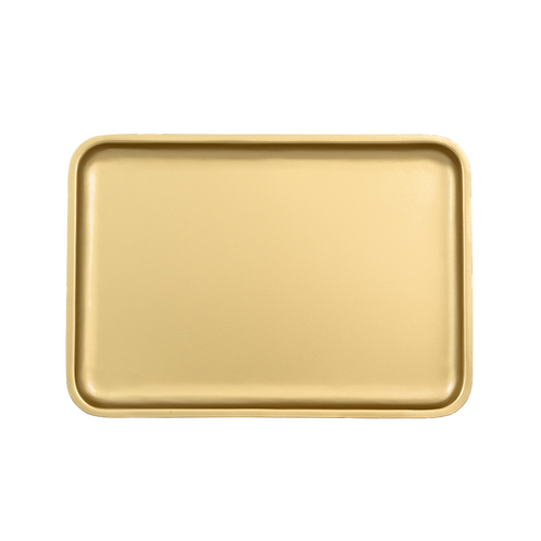 Good Morning Serving Tray Gold