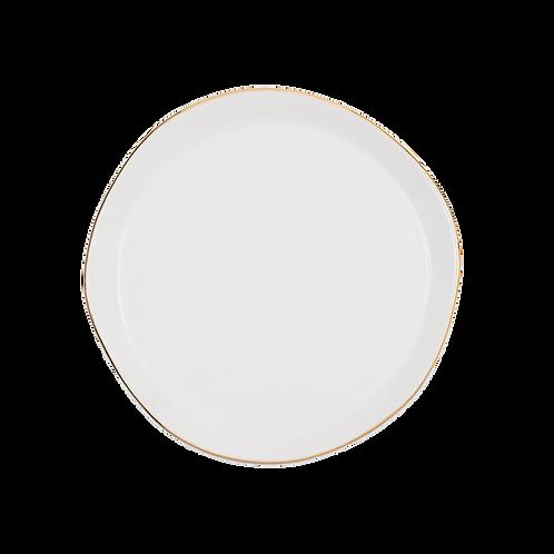 Good Morning Plate White