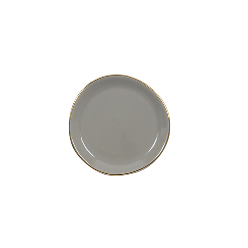 Good Morning Plate Small Gray Morn