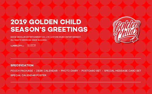 GOLDEN CHILD 2019 SEASON'S GREETINGS